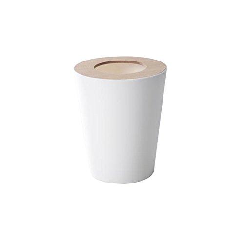 LVAB Mülleimer- Mülleimer Mülleimer für Bad, Büro, Küche - Clear Black (Farbe : Weiß)