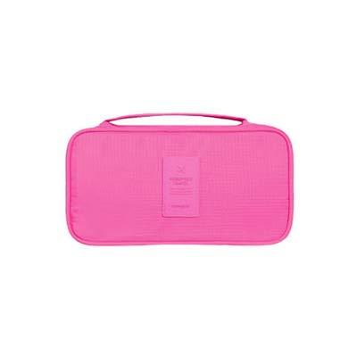 Travel Travel tragbare Unterwäsche Aufbewahrungstasche Multifunktions-Wasch-Kosmetiktasche weiblichen BH Socken Finishing Tasche Aufbewahrungstasche, rosa