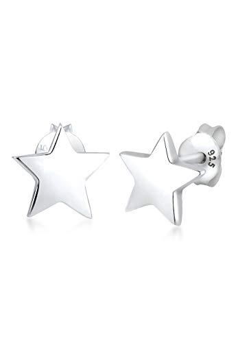 Elli Damen Schmuck Echtschmuck Ohrringe Ohrstecker Sterne Astro Sterling Silber 925