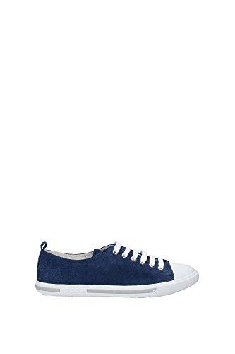 Prada Chaussures baskets sneakers femme en daim inchiostro blu Bleu