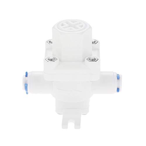 Válvula alivio presión agua rojo; regulador reducción
