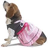 Kleid Größe Diagramm (EINSZWEIDOG Oktoberfest Kostüm Deutsch Dirndl Hund Kleid, Mehrere Größen, Rosa, XS, Rose)