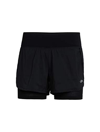 Icebreaker Merino Trainingsshorts Impulse, Damen, Impulse Training Shorts, schwarz, Medium