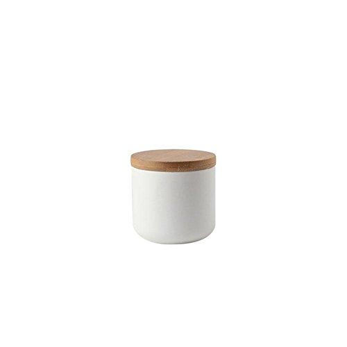 Vorratsgläser mit Deckel die keramischen Speichergläser schwarz/weiß für Flaschen-Kaffee/Tee/Caddy/Nahrungsmittelspeicher 260ML 800ML 1000ML