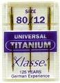 Hemline-H100.T/titanio forza universale Hi-Med-Aghi per macchina da cucire, 3% 2F12 x (Titanio Macchina Da Cucire Aghi)