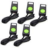 5-Lot Cisco AT T Uverse 20w Cable Box Adapter with Power Cord Compatible Part Numbers: 1010536 2103-30202022R ADS0202-U120167