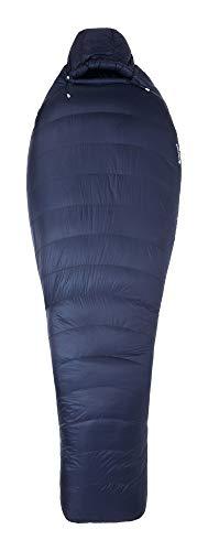 Marmot Unisex-Adult Phase 20 Long Mumienschlafsack, extra lang, Ultra-Leichter und Warmer Daunenschlafsack, 850er Gänsedaunenfüllung, ideal zum Camping und Trekking, Arctic Navy, 198 cm