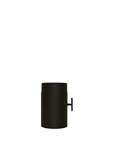 LANZZAS Homeflame Tuyau de poêle tuyau de cheminée Support 250 mm avec vanne à papillon Ø 120 mm Noir