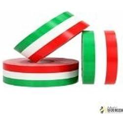 StickersLab Cinta adhesiva tricolor con la bandera de Italia, a rayas, en 4 medidas 10cm, Lunghezza - 1 metro