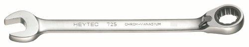 Heytec 50725030080 Clé Mixte à cliquet réversible, Argent, 30 mm