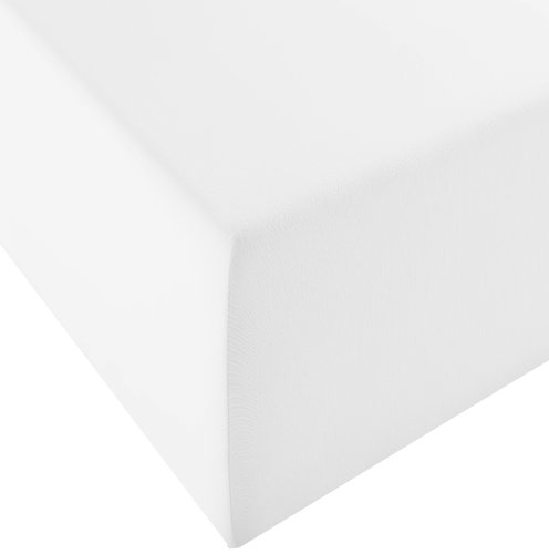 Fleuresse Comfort XL-Jerseyspannlaken, weiß, 180 x 200 cm