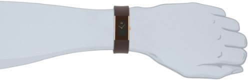 Rosendahl Men's Watch II 43166 Brown with Gold Plating Case and Brown Polyurathane Strap