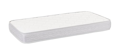 Colchón de cuna ESPUMA ACOLCHADO antibacterias antiácaros transpirable para cunas Altura 10 cm Varias medidas Fabricado en España Confort Descanso Dormitorio infantil (120x60 cm)