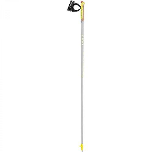 LEKI Flash Carbon Nordic Walking Stock, Anthracite Shiny/White/Neon Yellow, 110
