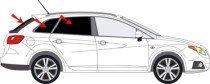 Vitres teintées SANS FILM SEAT Ibiza ST (break) après 2010 Art. 20520-5 Solarplexius