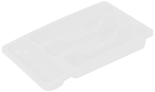 Curver 193637 Small Transparent Polypropylene Cutlery Tray 33 x 6 x 20 cm