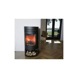 Aduro 1-2 6kW Black Contemporary Wood Burning Stove with Drawer