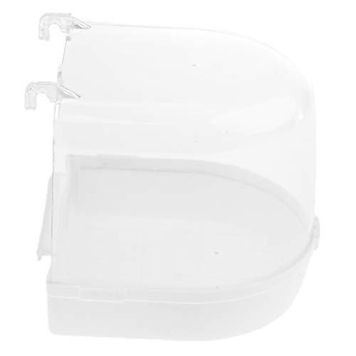 perfk Vogel Badehaus Badewanne aus Plastik, 13 x 13 x 13 cm - Weiß