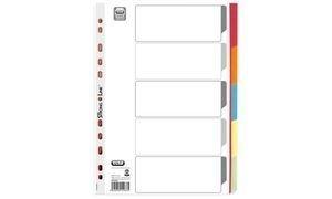 ELBA Karton-Register, blanko, DIN A4, farbig, 5-teilig VE = 1