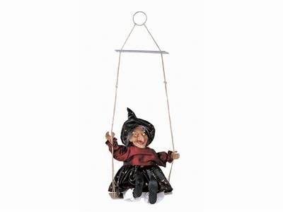 Halloween Beleuchtete Hexe auf der Schaukel Dekoration Leuchte