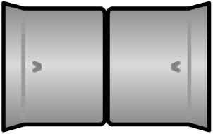 Preisvergleich Produktbild Fränkische Doppelsteckmuffe Kabuflex #19910110 NW 110 Kabuflex R;Kabuflex S Muffe für Kabelschutzrohre 4013960106572