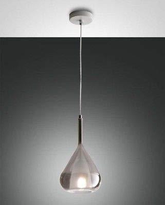 FABAS LUCE 3481-40-126 LILA GLAS BOROSILIKETTE FUME' E27 40W Ø 500 mm