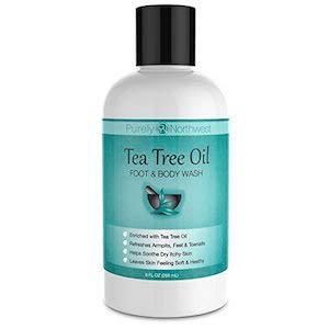 Purely Northwest Jabón antifúngico con aceite de árbol de té para el pie de los atletas, la tiña, el hongo de la uña y el picor del deportista 9oz
