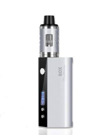 El buen gusto de la caja de adaptación del cigarrillo LED de los productos 80W del cese que fuma no filtra el traje del vapor del aceite (Color : Plata)