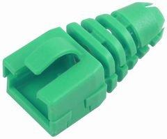ENCITECH CONNECTORS AB Strain Relief, RJ45, Retro FIT, GRN,PK10 SRB-SNAP-Green Green Shell Snap