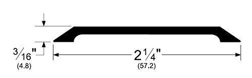 Mill Finish Aluminium (Pemko Flacher Sattelschwelle aus Aluminium, Mill Finish, 91,4 x 5,7 x 1,7 cm (L x B x H))
