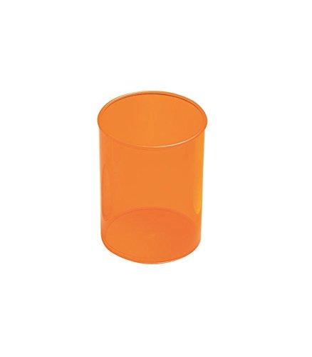 Portapenne plastica trasparente–Arancione