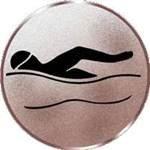 S.B.J - Sportland Pokal/Medaille Emblem, Motiv Schwimmen, Durchmesser 50 mm, bronze