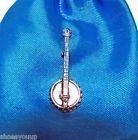 Banjo finement fait à la main au Royaume-Uni en étain Badge à Pin\'s