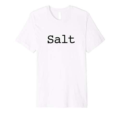 Salz T-Shirt für Halloween Salz und Pfeffer Kostüm