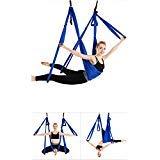 Ensemble de hamac de yoga aérien - Antigravité - Exercices inversés, bleu marine