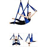 Amaca oscillante per Aerial Yoga, per esercizi di inversione di yoga antigravity , Royal blue