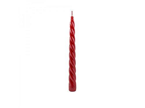 Girm®-hx924180Kerze gedreht lackiert rot cm 24.-Kerzen-Tisch für Party. Kerzen für Weihnachten. Kerze bunt