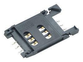 AMPHENOL ICC (COMMERCIAL PRODUCTS) SIM/SAM Memory Socket, 6POS C707 10M006 500 2A Sam Sockets