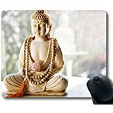 Custom Hot Mouse Pad with Buddha Beads Holy Teaching Non-Slip Neoprene Rubber Standard Size 9 Inch(220mm) X 7 Inch(180mm) X 1/8 Inch(3mm) Desktop Mousepad Laptop Mousepads Comfortable Computer Mouse Mat - Buddha Bead