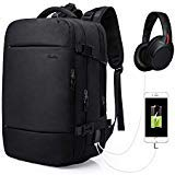 Travel Backpack,Laptop Backpack Canvas Rucksack Travel Duffel Backpack Retro Hiking Bag (35L, Black)
