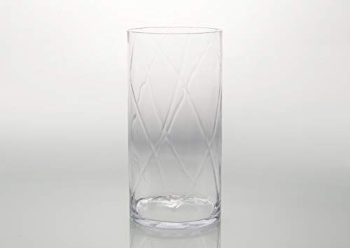Vase en verre, hauteur 40 cm, Amadeus