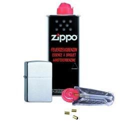 zippo-chrom-standard-geburstet-brushed-im-set-zippo-feuerzeug-125ml-benzin-6x-feuersteine-im-spender