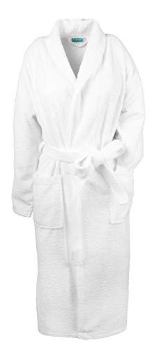 ZOLLNER Bademantel aus Baumwolle, Größe XXL (weitere Größen), Farbe weiß, Schalkragen
