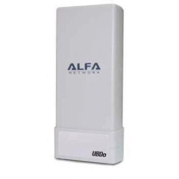Alfa Network UBDO-NT8 -  Adaptador WiFi USB 802.11b / g / n, largo alcance, radio, con con 12 dBi antena integrada, cable de 8
