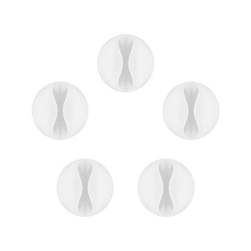 Goobay 95183 flexible Kabelführung Flexible zum Kleben Weiß 5er Set