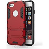 iPhone 8 / iPhone 7 Coque, Cocomii Iron Man Armor NEW [Heavy Duty] Premium Tactical Grip Kickstand Shockproof Hard Bumper Shell [Military Defender] Full Body Dual Layer Rugged Cover Case Étui Housse Apple (Red)