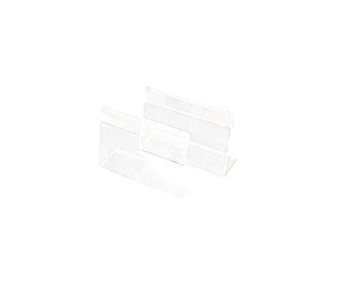 MYAMIA 20Pcs 9Cmx6Cm Acrilico Segno Display Etichetta Prezzo Nome Carta Cartellino Titolare Stand