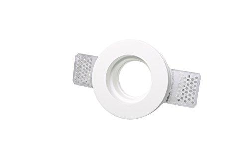 lineteckled®–e11.002.13–portafaretto a integrado redondo Totalmente de tiza Ceramico Ahorra con anillo bloccafaretto,...