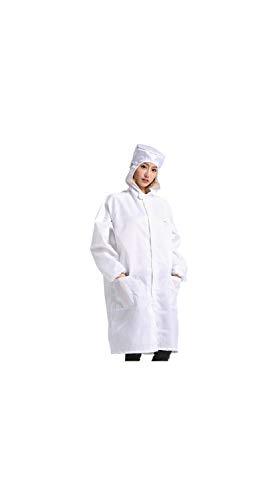 SCRT One-Piece Schutzanzug Anti-Static Overall mit Einer Kappe Polyester staubdichte Kleidung elastische Bündchen bequemen und weiche Staubfreie Kleidung Mäntel Mehr Farben und Größen