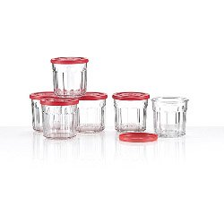 Luminarc Red Top Jam Jar - Sealing Lid (6 Pack) 0.5L (786287)